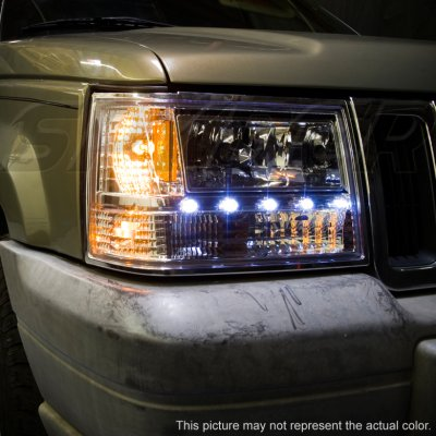 Amazing ... Jeep Grand Cherokee 1993 1998 Clear Euro Headlights With LED
