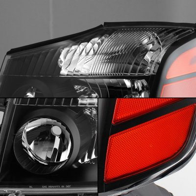 Nissan Armada 2004-2007 Black Headlights