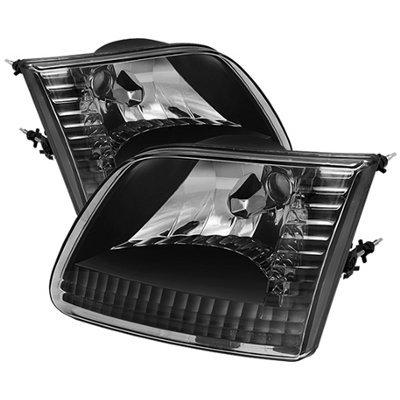 Ford F150 1997-2003 Black Euro Headlights