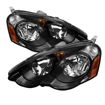 Acura RSX 2002-2004 Black Euro Headlights