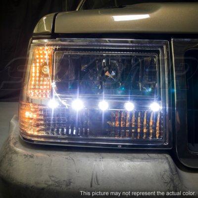 ... Jeep Grand Cherokee 1993 1998 Smoked Euro Headlights With LED