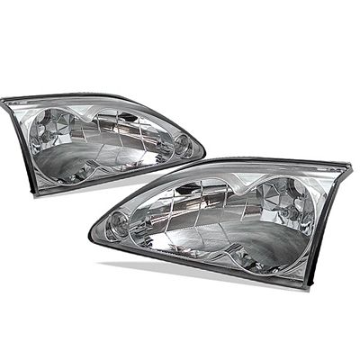 Ford Mustang 1994-1998 Clear Euro Headlights