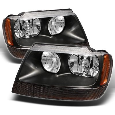 Wonderful Jeep Grand Cherokee 1999 2004 Black Euro Headlights