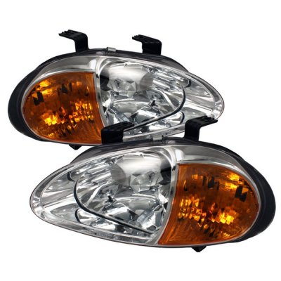 Honda Del Sol 1993-1997 Clear Euro Headlights