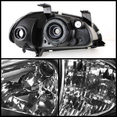 Honda Del Sol 1993-1997 Black Euro Headlights