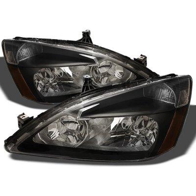 Honda Accord 2003-2007 Black Crystal Euro Headlights