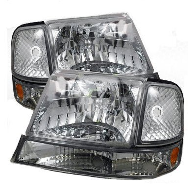 Ford Ranger 1998 2000 Clear Euro Headlights And Per Lights A117ycs3102 Topgearautosport