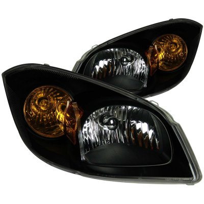 Chevy Cobalt 2005-2012 Black Euro Headlights