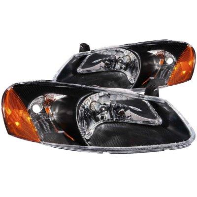 Chrysler Sebring 2001 2003 Black Euro Headlights A117t6qm102 Topgearautosport