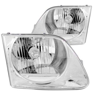 Ford F150 1997-2002 Crystal Headlights Chrome