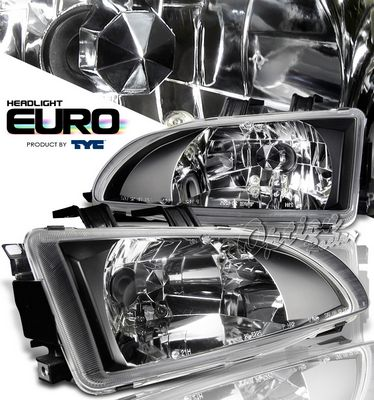 Honda Civic 1992-1995 TYC Black Euro Headlights