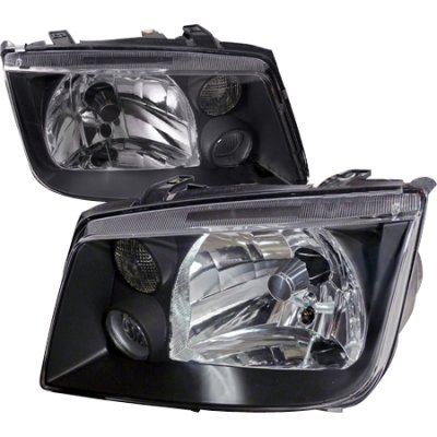 VW Jetta 1999-2004 Black Euro Headlights