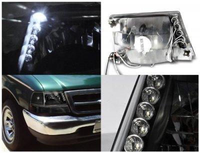 ford ranger 1998 2001 black custom headlights led a122qprx102 topgearautosport topgearautosport com