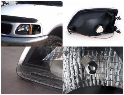 Ford F150 1997-2003 Black Custom Headlights