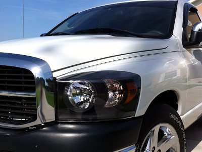 Dodge Ram 2006 2008 Black Headlights