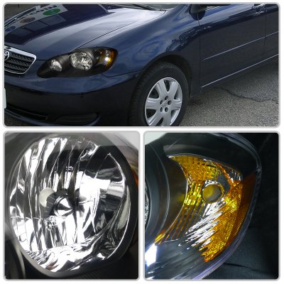 2007 Toyota Corolla Black Custom Headlights