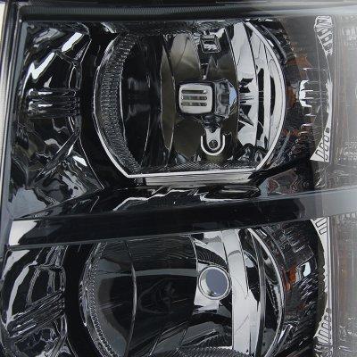 Chevy Silverado 2500HD 2007-2014 Smoked Headlights