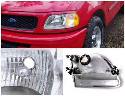 Ford F150 1997-2003 Chrome Custom Headlights