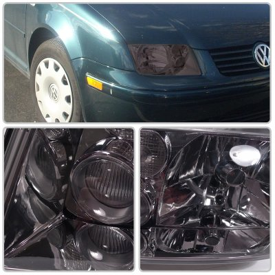 VW Jetta 1999-2004 Smoked Euro Headlights