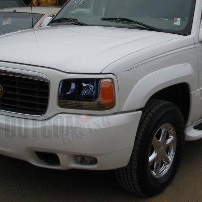 Cadillac Escalade 1999-2000 Dark Smoked Euro Headlights ...