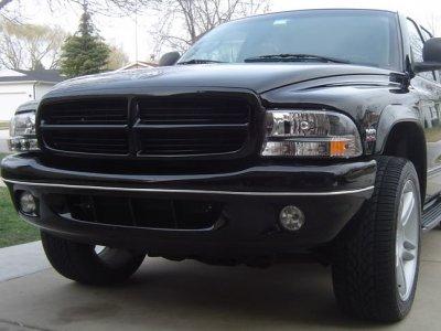 Dodge Dakota 1997-2004 Black Headlights One Piece