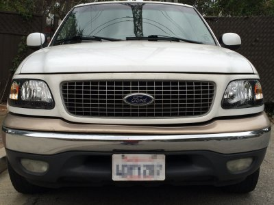 Ford F150 1997 2003 Black Chrome Headlights Led Drl A128z75p102