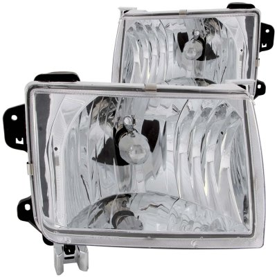 nissan xterra 2000 2001 chrome headlights a132qjwu102. Black Bedroom Furniture Sets. Home Design Ideas
