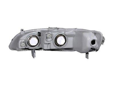 Honda Accord 1998-2002 Black Euro Headlights