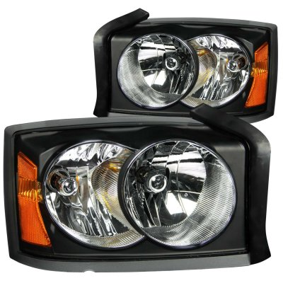 Dodge Dakota 2005-2007 Black Euro Headlights
