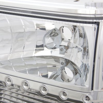 Ford Ranger 1989 1992 Clear Euro Headlights With Led