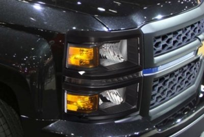 2016 chevy silverado 1500 black headlights led drl. Black Bedroom Furniture Sets. Home Design Ideas