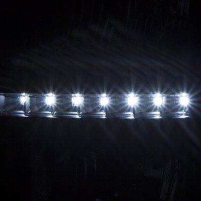Chevy Silverado 1500 2014-2015 Black Headlights LED DRL