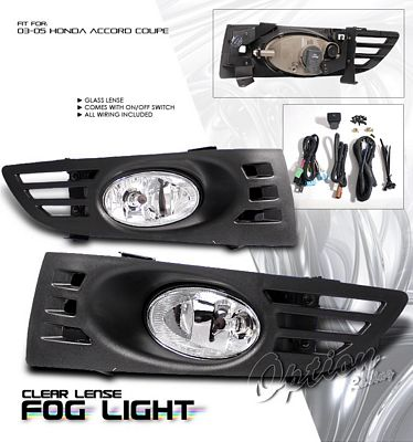 Honda Accord Coupe 2003-2005 Fog Lights Kit Clear OEM Style