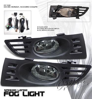 Honda Accord Coupe 2003-2005 Fog Lights Kit Smoked OEM Style
