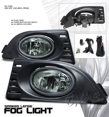 Acura RSX 2005-2007 Smoked OEM Style Fog Lights Kit