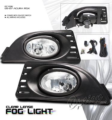 Acura RSX 2005-2007 Clear OEM Style Fog Lights Kit