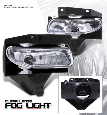 Ford Mustang 1999-2004 Clear OEM Style Fog Lights