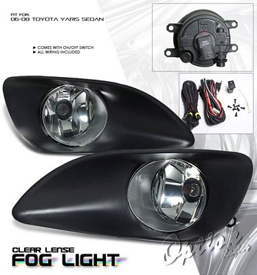 Toyota Yaris Sedan 2006-2008 Clear OEM Style Fog Lights Kit
