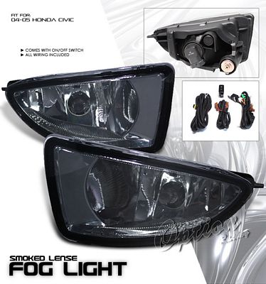 Honda Civic 2004 2005 Smoked Fog Lights Kit A101f5wp103