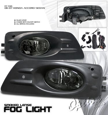 Honda Accord Sedan 2006-2007 Smoked Fog Lights Kit