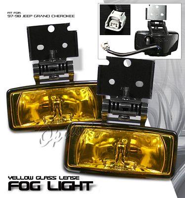 Jeep Grand Cherokee 1997-1998 Yellow OEM Style Fog Lights Kit