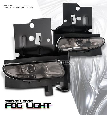 Ford Mustang 1994-1998 Smoked OEM Style Fog Lights Kit