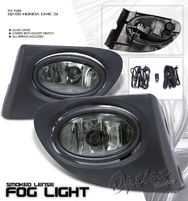 Honda Civic Si 2002-2005 Smoked OEM Style Fog Lights Kit