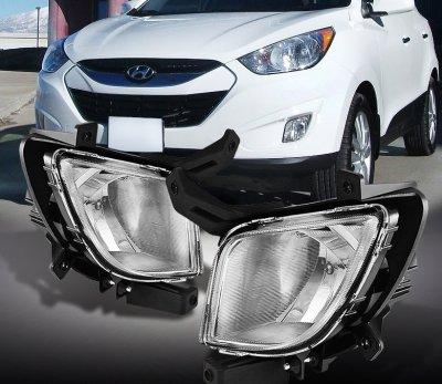 Hyundai Tucson 2010 2012 Clear Oem Style Fog Lights