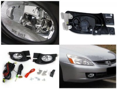Honda Accord Sedan 2003-2005 Fog Lights Kit Clear OEM Style