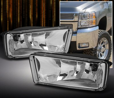 Chevy Silverado 2007 2012 Clear Oem Style Fog Lights