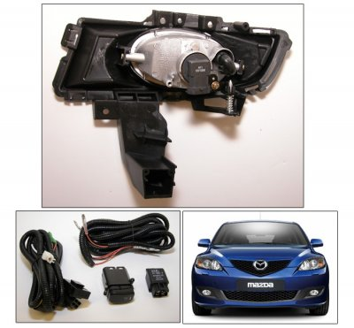 ... Mazda 3 Sedan 2007 2008 Clear OEM Style Fog Lights