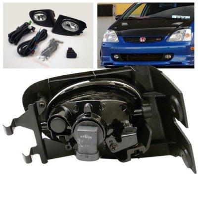 Honda Civic Si 2002-2005 Clear OEM Style Fog Lights Kit
