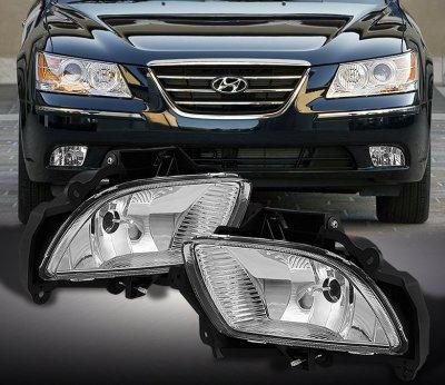 Hyundai Sonata 2009 2010 Clear Oem Style Fog Lights
