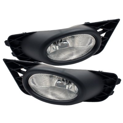 Honda Civic Sedan 2009 2011 Clear Fog Lights Kit on 2009 gmc sierra 2500hd fog light wiring